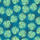 Seamless Flower Tropical Floral Pattern Background Stock Photography