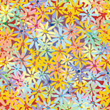 Seamless flower vector pattern stock photos