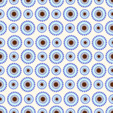 Seamless flower vector pattern, symmetrical background with blue flowers, over light light backdrop Royalty Free Stock Photos