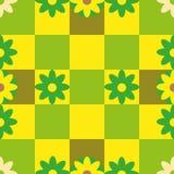 Seamless flower vintage pattern. Retro spring style. Vector Eps 10 Stock Photos