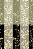 Seamless flower wall paper pattern Stock Images