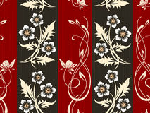 Seamless flower wall paper pattern Royalty Free Stock Images