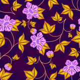 Seamless flower wallpaper. Stock Photography