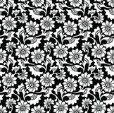 Seamless flower wallpaper and background Stock Photography