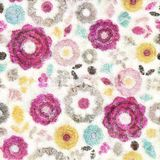 Seamless flower water color style background Royalty Free Stock Photo