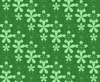 Seamless flowered pattern. Green seamless flower pattern background Royalty Free Stock Images