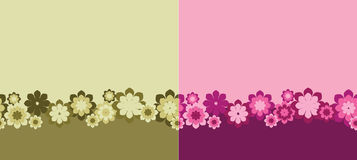 Seamless flowers Stock Photography