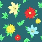 Seamless flowers Royalty Free Stock Photo
