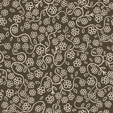 Seamless flowers. Seamless background texture with flowers and leaves, pattern Royalty Free Illustration