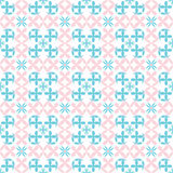 Seamless Flowers baby pink and blue pattern Stock Images