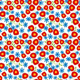Seamless flowers background pattern Royalty Free Stock Photography