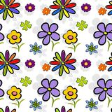 Seamless flowers background tile Stock Photography