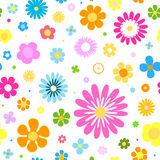 Seamless flowers background with vibrant colors Royalty Free Stock Photo