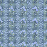 Seamless flowers with blue flowers pattern on light blue  background. Seamless flowers with blue flowers pattern.stylish texture on light blue background with Stock Photo
