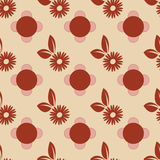 Seamless Flowers and Leaves Pattern. 