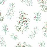 Seamless flowers and leaves pattern Royalty Free Stock Photos