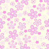 Seamless flowers pastel. Stock Photo