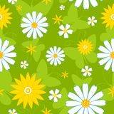 Seamless flowers pattern. Seamless flowers pattern with butterflies. Vector background Stock Image