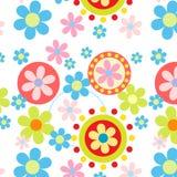 Seamless flowers pattern. On white background Stock Photos