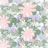 Seamless flowers pattern colourful. Vector background illustration Vector Illustration