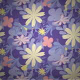 Seamless flowers pattern colourful. Vector background illustration Royalty Free Stock Image