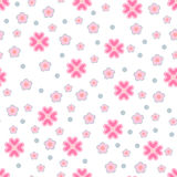 Seamless flowers pattern. Delicate pink flowers. Seamless pattern Royalty Free Stock Images