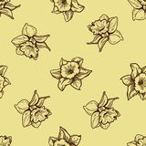 Seamless flowers pattern. Nature background concept. Royalty Free Stock Images