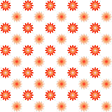 Seamless Flowers Pattern. Summer Vector Background. Froral Geome Stock Photo