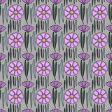 Seamless flowers pattern Royalty Free Stock Photos