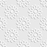 Seamless Flowers Pattern Stock Photography