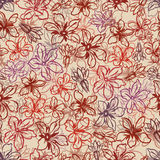 Seamless flowers pattern. Stock Photography