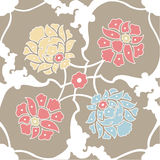 seamless with flowers pattern, wallpaper Stock Photos