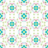 Seamless flowers pattern on white background Stock Image