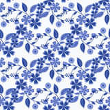 Seamless  flowers pattern white background Royalty Free Stock Photo