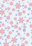 Seamless flowers pink and blue Stock Image