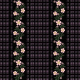 Seamless flowers with pink flowers pattern on black  background. Seamless flowers with pink flowers pattern.stylish texture on black background Royalty Free Stock Image