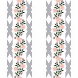 Seamless flowers with pink flowers pattern on white  background. Seamless flowers with pink flowers pattern.stylish texture on white background with gray bands Stock Photography