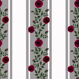Seamless flowers of red roses pattern on white background Royalty Free Stock Photo