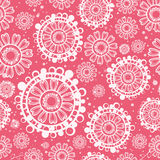 Seamless flowers and small origin. Flowers and small dots (print, swatches, seamless background, wallpaper, or repeat pattern repeat Royalty Free Stock Image