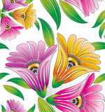 Seamless flowers for textile designs Royalty Free Stock Photo