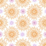 Seamless flowers vector pattern from abstract Stock Photo
