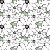 Seamless flowers with white flowers pattern on light green  background. Seamless flowers with white flowers pattern.stylish texture on light green background Royalty Free Stock Images