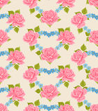 Seamless Flowery wallpaper background Stock Photos