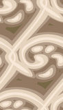 Seamless Flowing Design. Seamless background pattern with brown flowing lines and blobs Royalty Free Stock Photography