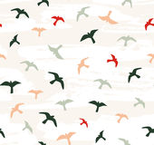 Seamless flying birds. Vector seamless pattern. stock illustration