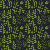Seamless foliage pattern Stock Image