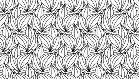 Leaves seamless. Seamless foliate black pattern isolated on white background Stock Photo