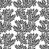 Seamless foliate ornament. Black and white pattern Stock Photo