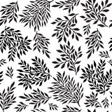 Seamless foliate ornament. Black and white pattern Stock Photos