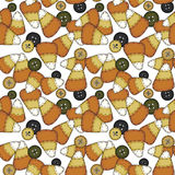 Seamless Folk Art Candy Corn Royalty Free Stock Image